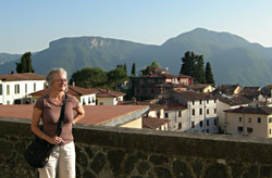 Carolyn on vacation in Barga Italy