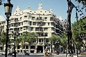 While renting in Barcelona, visit La Pedrera by Gaudi.